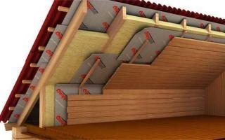 Как утеплить крышу в доме минеральной ватой?