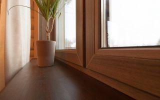 Особенности металлопластиковых окон коричневого цвета