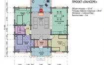 Проект: одноэтажный дом площадью 12х12