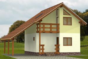 Вид каркасного дома