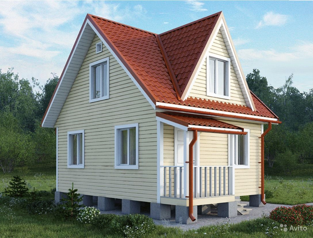 Проектировка и постройка каркасного дома 6х8 с мансардой