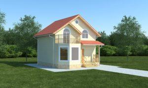 Правильное сочетание пропорций скрадывает действительные размеры дома