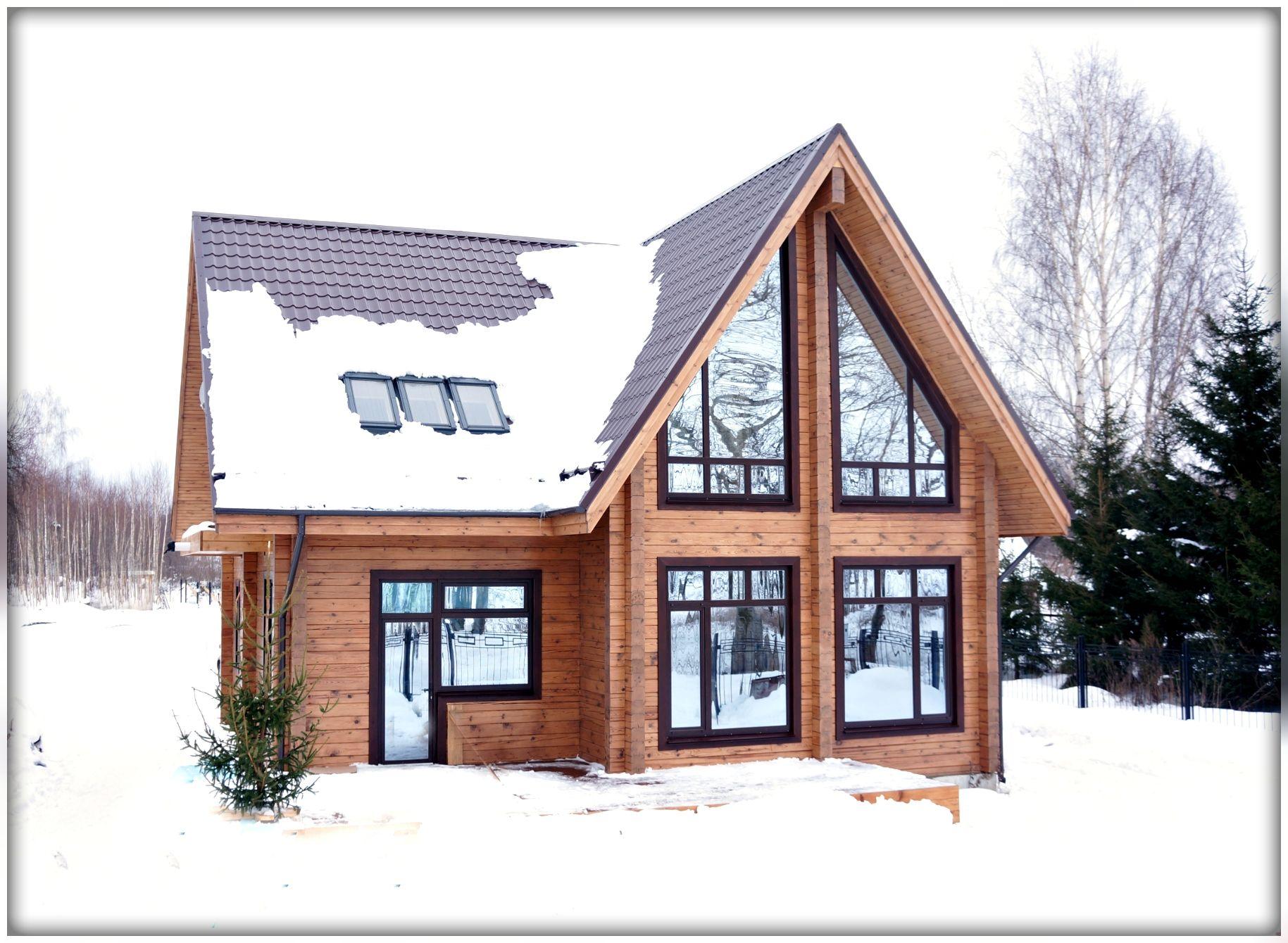Брусовые дома для проживания круглый год