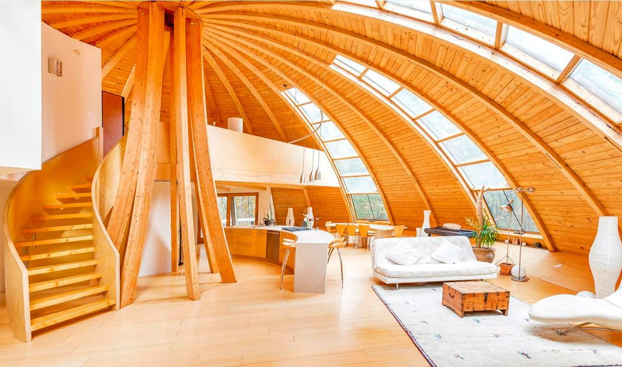 Доступный дачный дом каркасно брусовый в виде шатра либо купола