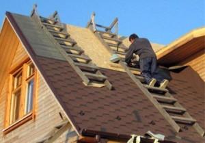 Формирование крыши дома