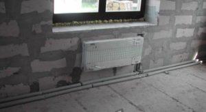 Горизонтальная двухтрубная система отопления дома