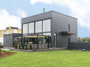Каркасный дом в стиле минимализм 1