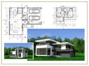 Каркасный дом в стиле минимализм 3