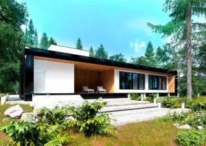 Каркасный дом в стиле минимализм 4