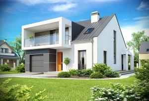 Каркасный дом в стиле модерн 2