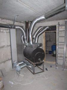 Монтаж и обустройство системы воздушного отопления в каркасном доме 4