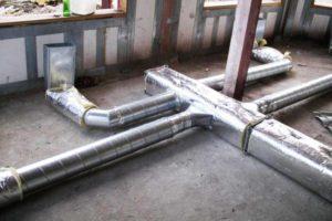 Монтаж и обустройство системы воздушного отопления в каркасном доме 5