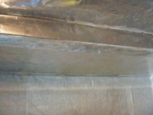 Монтаж термоизоляции с фольгой для бани 5