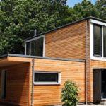 Оригинальный каркасно панельный дом для проживания семьи