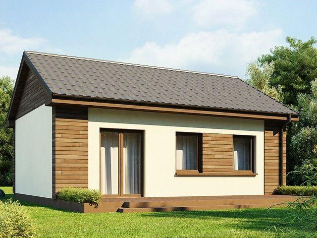 Отштукатуренный каркасный дом