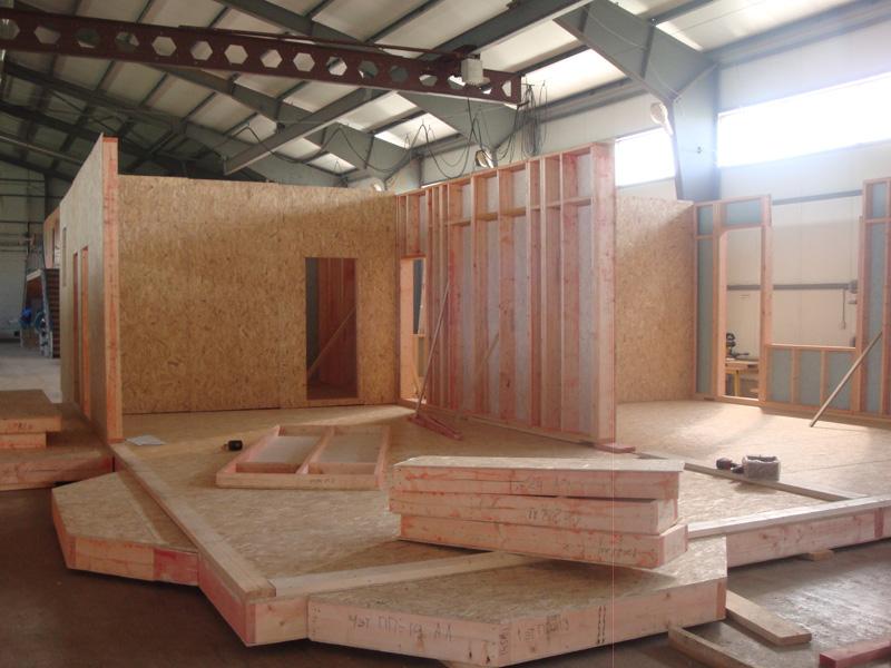 Подготовка к сборке каркасно панельного дома