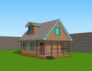 Проектировка и постройка каркасного дома 6х8 с мансардой 1