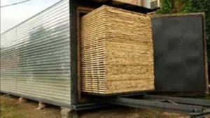 Промышленная сушка гарантирует влажность древесины 7–10%