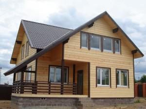 Построенный каркасный дом