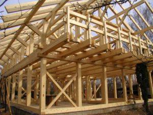 Сооружение каркаса дома