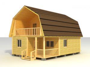 Одноэтажный каркасно-щитовой дом - образец