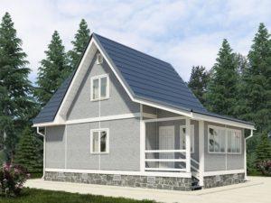 Строительство каркасных домов с верандой 1
