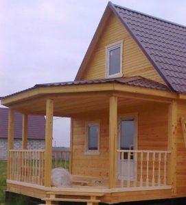 Строительство каркасных домов с верандой 2