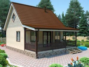 Строительство каркасных домов с верандой 3