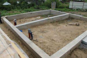 Строительство ленточного фундамента самостоятельно для каркасного дома 1