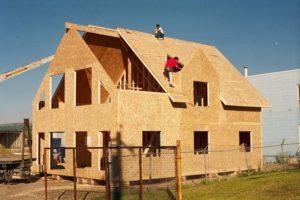 Строящийся каркасно-щитовой дом