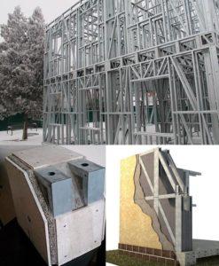 Технология монтажа каркасных зданий из ЛСТК