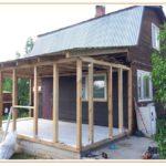 Технология строительства каркасной пристройки к основному дому