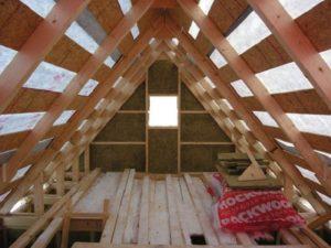 Технология утепления деревянной крыши