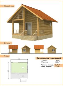 Типовой проект каркасного дома для постоянного проживания 2