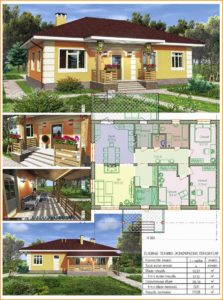 Типовой проект каркасного дома для постоянного проживания 3
