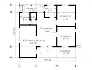 Типовой проект каркасного дома для постоянного проживания 4