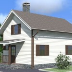 Типовой проект каркасного дома для постоянного проживания
