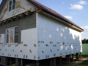 утепления пенопластом каркасного дома 2