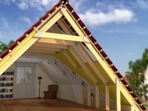 Вариант скатной крыши