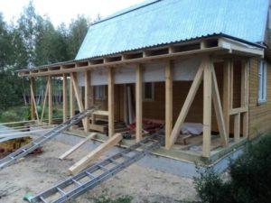 Вариант строительства каркасной террасы