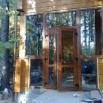 Входная стеклянная дверь 3