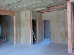 Внутренние стены каркасного дома 3