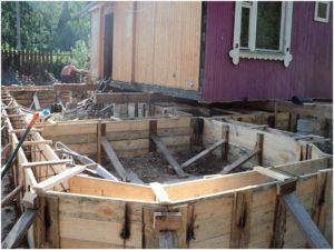 Замена ленточного фундамента строения