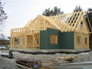 Строительство каркасного дома на участке