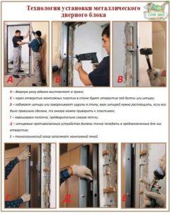 Как установить металлическую входную дверь своими руками 4