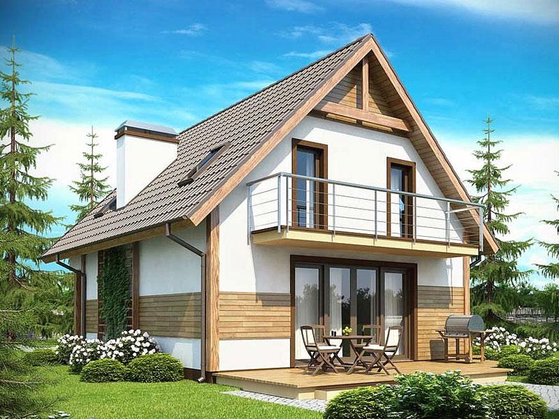 Каркасный жилой дом с одним этажем