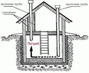 Схема обустройства подвала дома