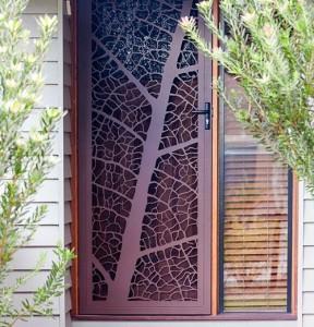 Стеклянная входная дверь 1